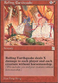 MTG Card: Rolling Earthquake