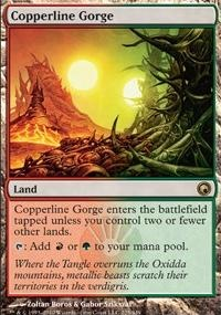 MTG Card: Copperline Gorge
