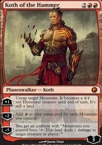 MTG Card: Koth of the Hammer