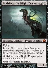 MTG Card: Skithiryx, the Blight Dragon