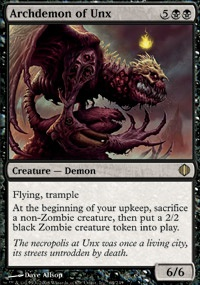 MTG Card: Archdemon of Unx