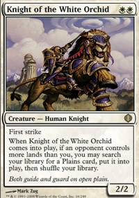MTG Card: Knight of the White Orchid