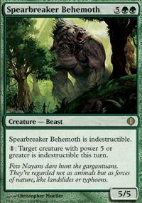 MTG Card: Spearbreaker Behemoth
