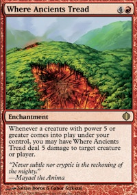 MTG Card: Where Ancients Tread