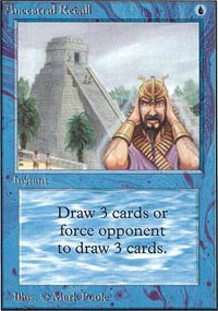MTG Card: Ancestral Recall