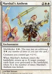 MTG Card: Marshal's Anthem