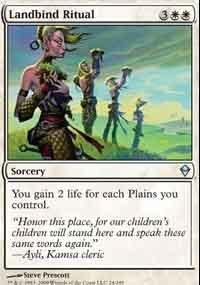 MTG Card: Landbind Ritual