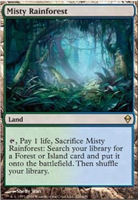 MTG Card: Misty Rainforest