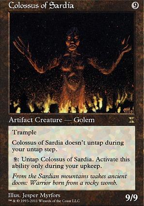 5x Colossus of Sardia PL MTG Fourth Edition 4th Magic