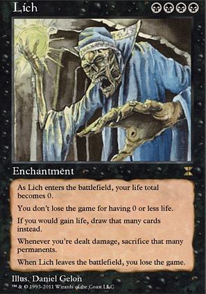 Lich Me4 Mtg Card