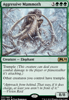 Aggressive Mammoth (M20 MTG Card)