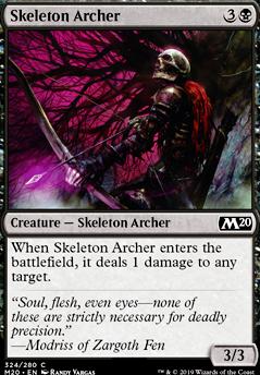 Skeleton Archer (M20 MTG Card)