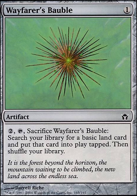 1X FOIL Wayfarer/'s Bauble MTG Magic FIFTH DAWN 165//165