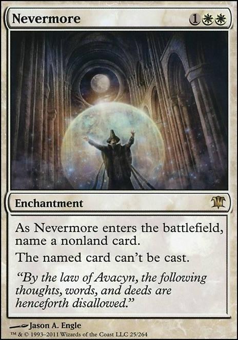 NEVERMORE Innistrad MTG White Enchantment RARE
