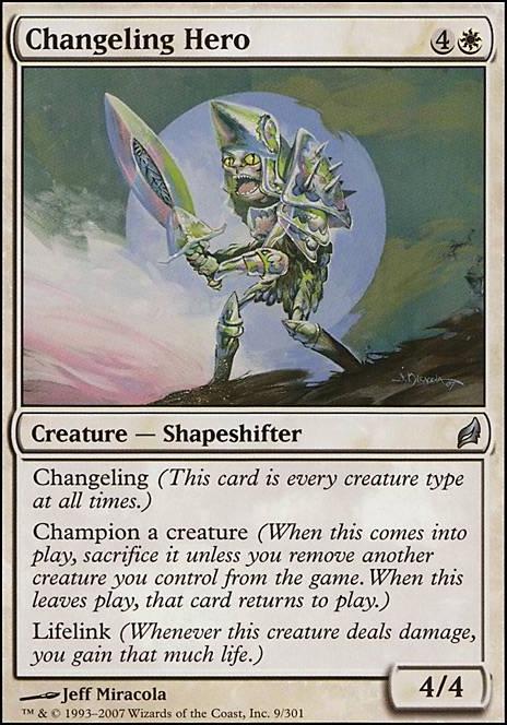 MTG Magic LRW the Gathering Cards CHANGELING HERO