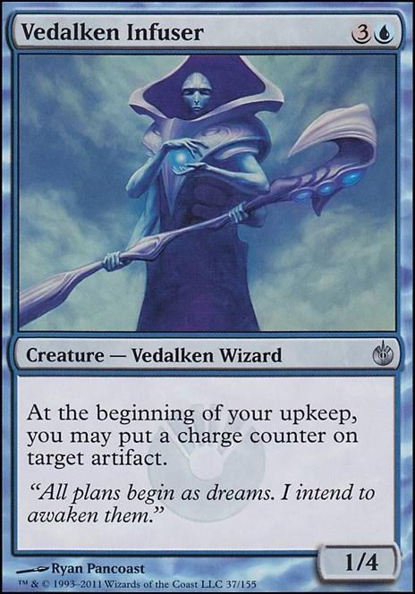 VEDALKEN ARCHMAGE Mirrodin MTG Blue Creature — Vedalken Wizard RARE