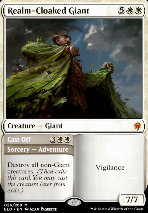 Giant Mythic REALM-CLOAKED GIANT Throne of Eldraine MTG White Creature