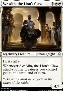 4x Syr Alin Throne of Eldraine White Uncommon the Lion/'s Claw NM
