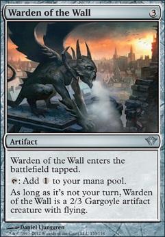 Warden Of The Wall Dka Mtg Card
