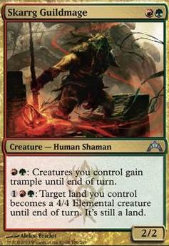 MTG 4x SKARRG GUILDMAGE Gatecrash *Human Shaman Trample*