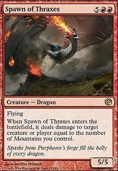 JOU Journey to Nyx Red Rare MTG: Spawn of Thraxes Magic Card